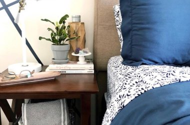 modern nightstand styling