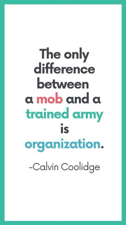 best organization quotes