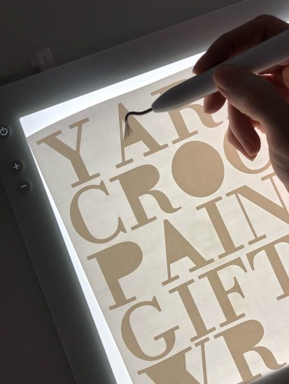 Cricut BrightPad for weeding vinyl