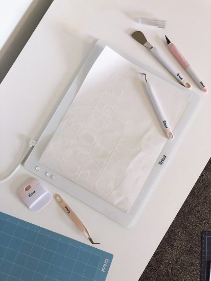 Cricut BrightPad for weeding