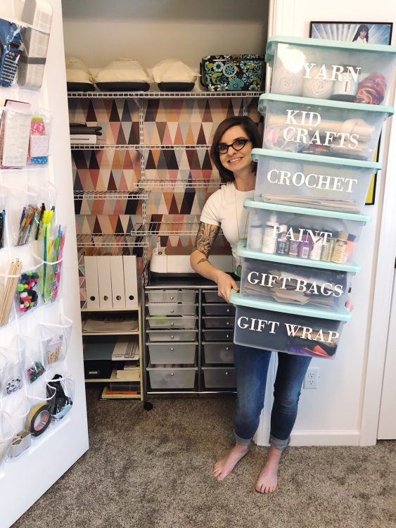 Lela Burris Craft Closet Makeover with Cricut
