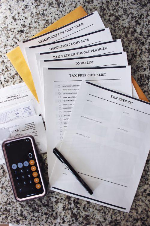 Printable Tax Prep Organizer Kit