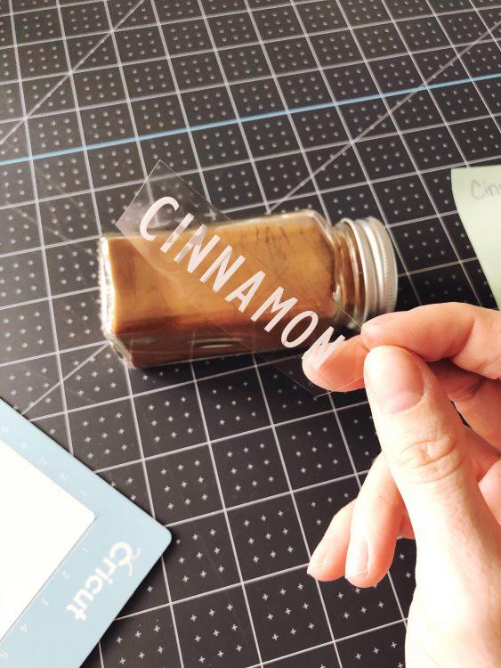 Cricut Spice Jar Labels