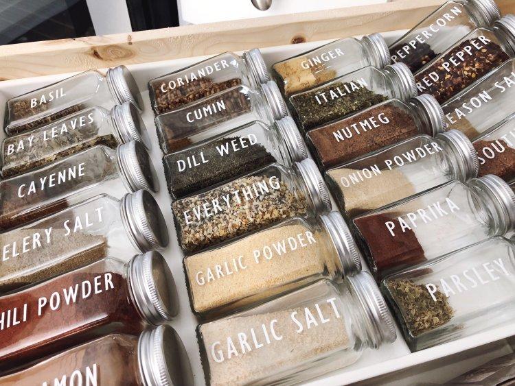 spice jar labels with cricut maker