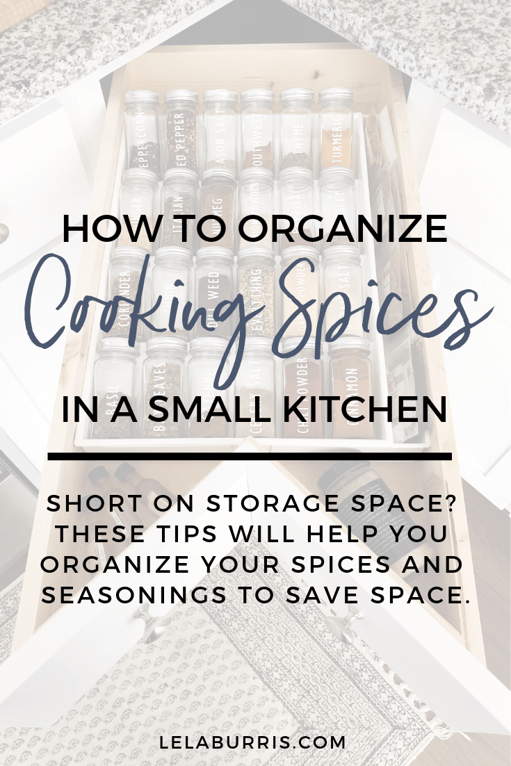 small kitchen spice storage