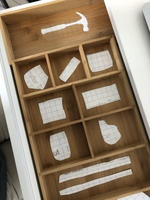 Cricut Drawer Organizer labels by Lela Burris