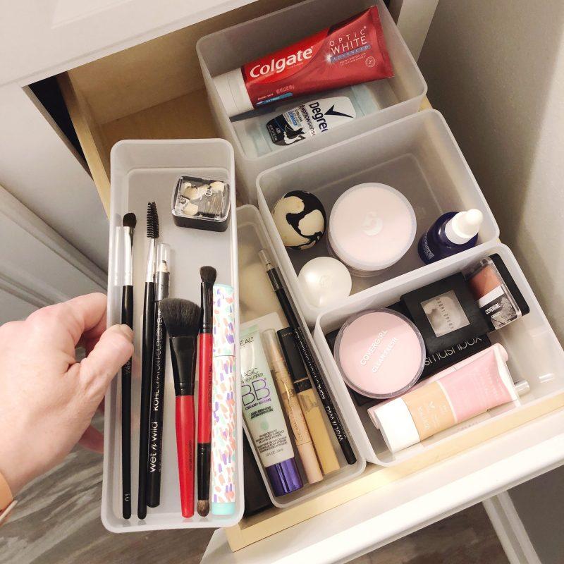 organized bathroom drawer