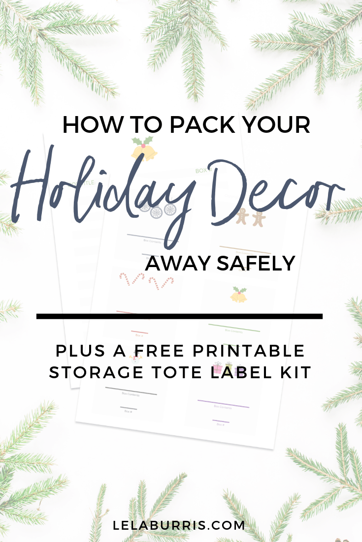 storing holiday decor tips