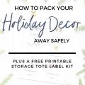 storing holiday decor tips