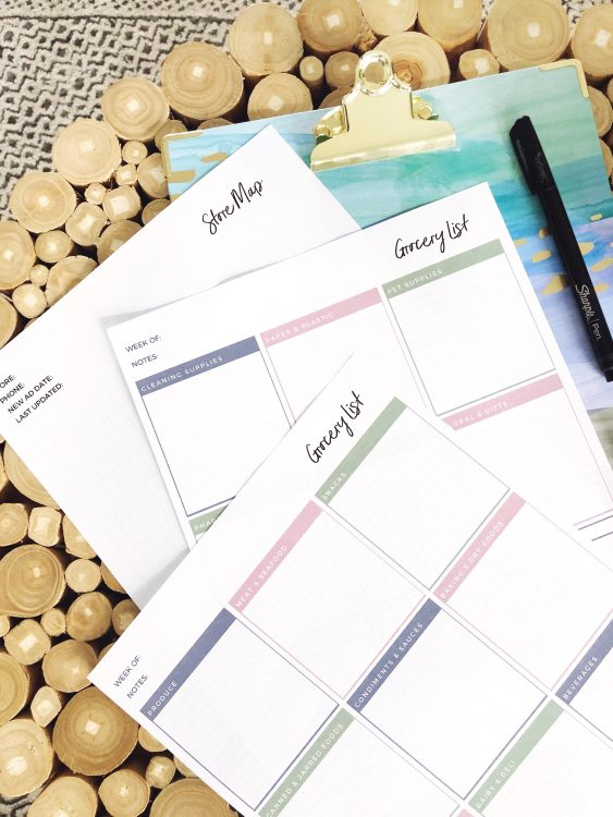 free printable grocery list from Lela Burris
