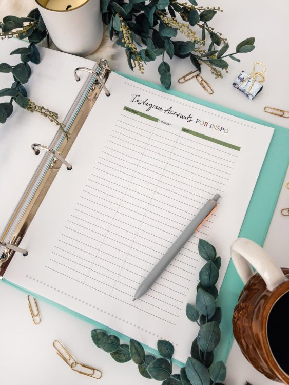 printable holiday decorating planner