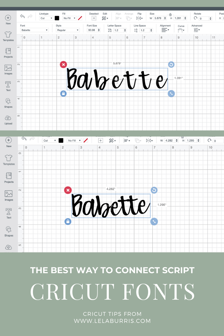 how to connect Cricut script fonts to look like handwriting