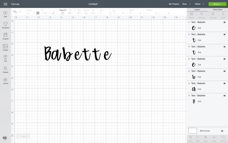 Cricut design space letter spacing tutorial
