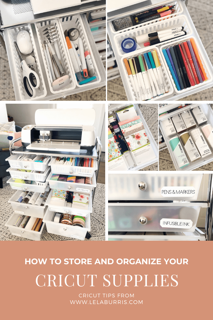 cricut maker storage cart organization