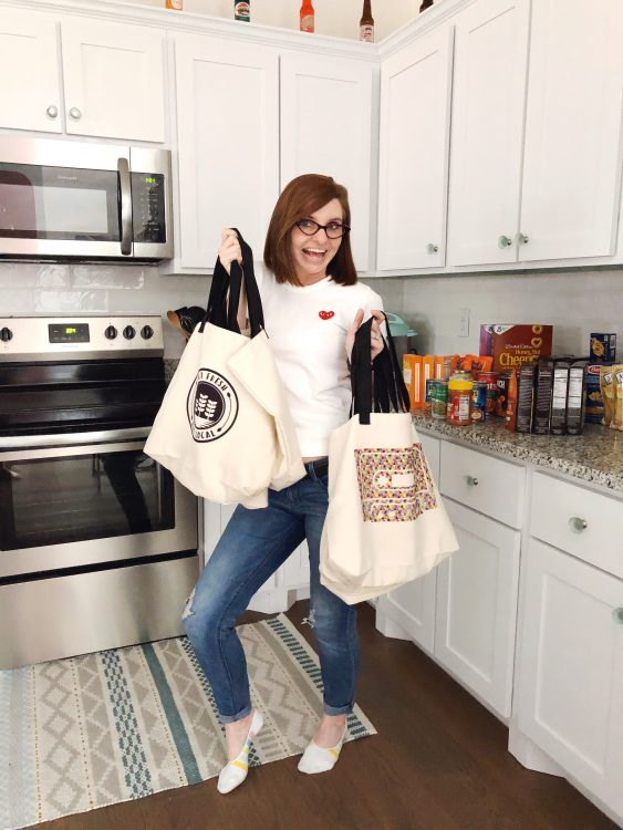 Lela Burris DIY Reusable Grocery Bags