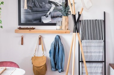 clean uncluttered entryway