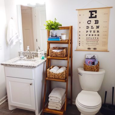 small guest bathroom storage