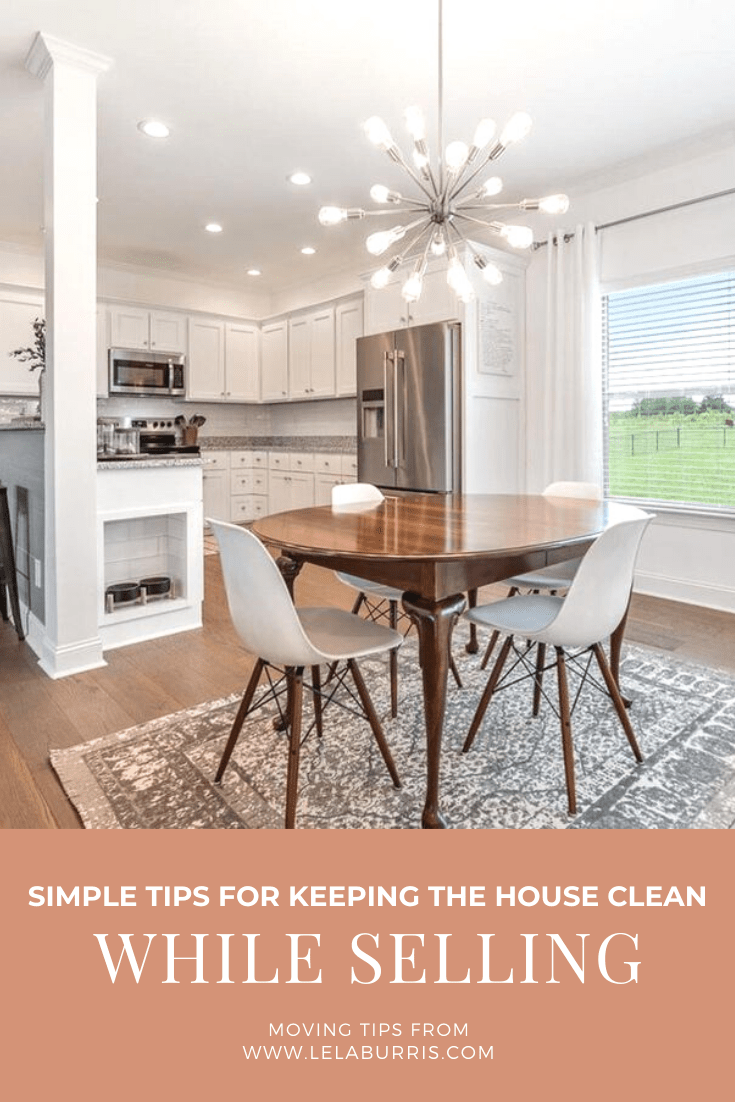 how to keep your house clean when selling it