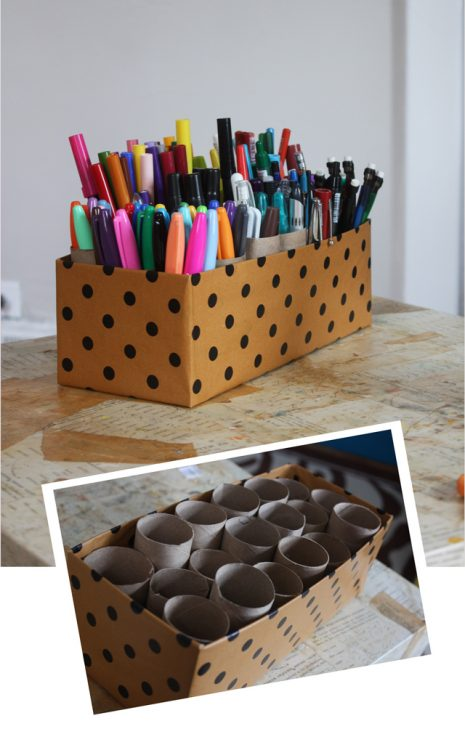 shoebox marker caddy desk organizer