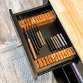 knife storage in small kitchen drawer