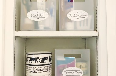 pet pantry cricut labels