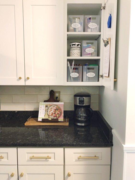 pet storage cabinet in kitchen