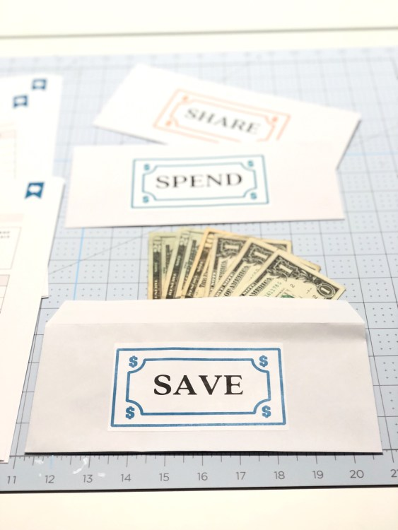 kids savings envelopes