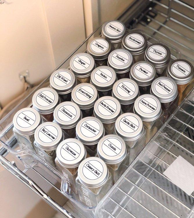 spice jar lid labels with cricut smart label