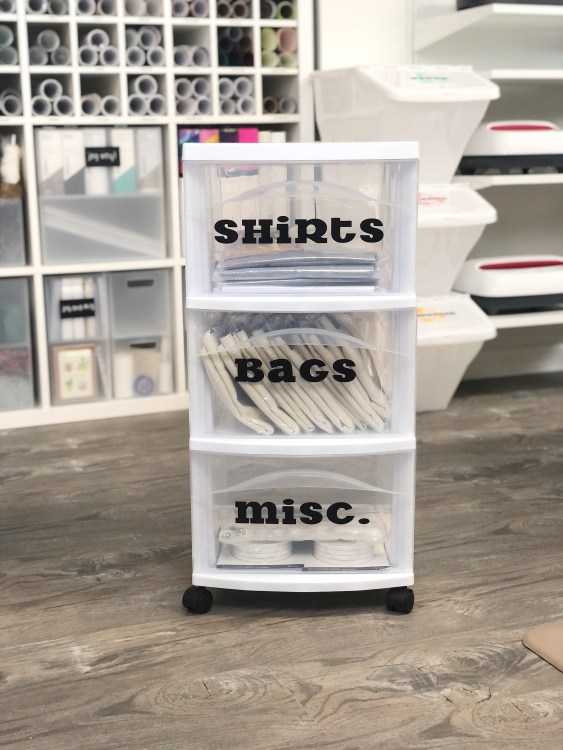cricut iron on Infusible Ink blanks storage