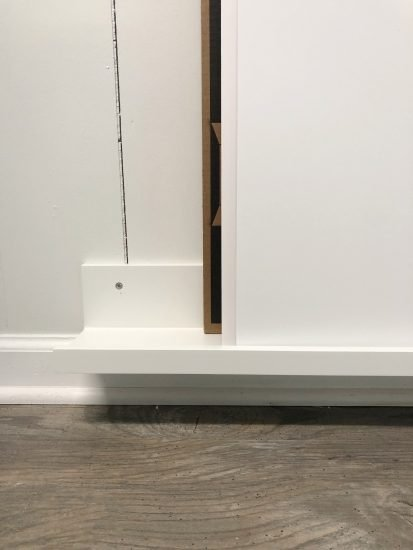 picture ledge for poster board storage by Organized-ish