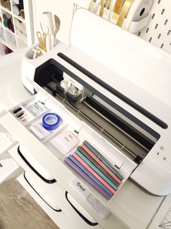 cricut maker storage ideas for htv and Infusible Ink supplies
