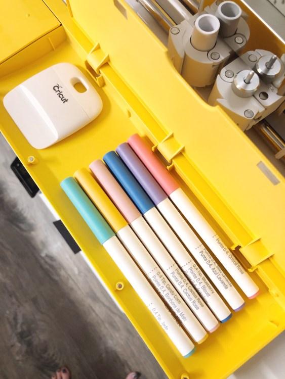 cricut pens stored in explore air 2 compartment