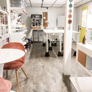 Lela Burris Organized-ish Headquarters Blog Studio and Craft Room