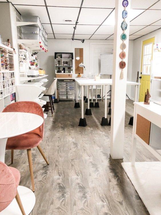 Lela Burris Organized-ish Headquarters Blog Studio and Craft Room