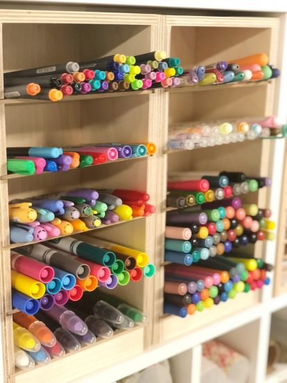 craft room organization ideas from Lela Burris