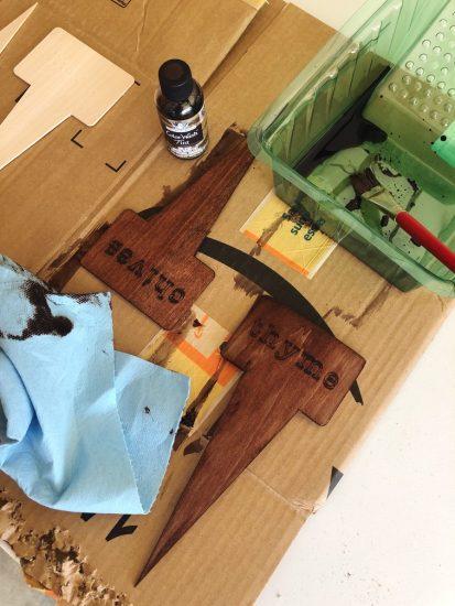 diy wood garden markers with Cricut Maker