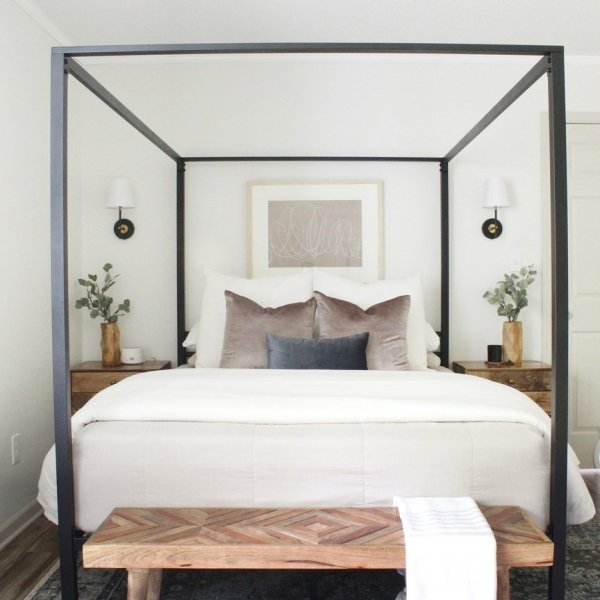 modern contemporary canopy bed