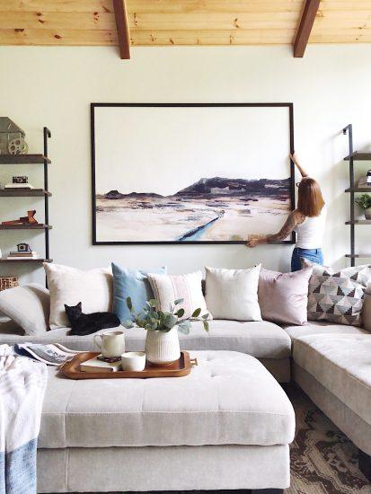 juniper print shop Mesa oversized in living room