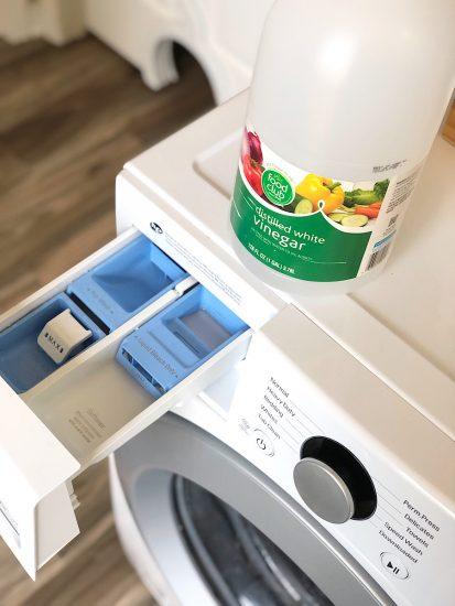washing machine with vinegar