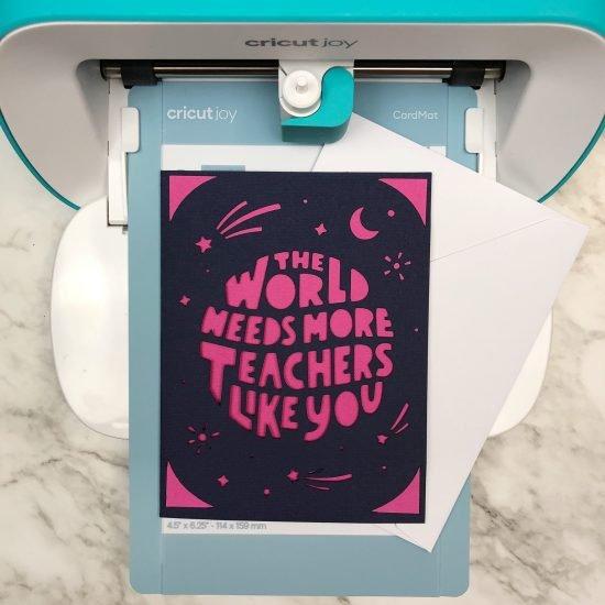 favorite teacher card Cricut Joy