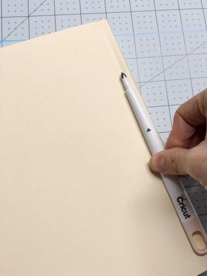 diy book dust jacket with cricut scoring stylus