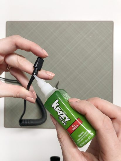 fix phone charger with Krazy Glue