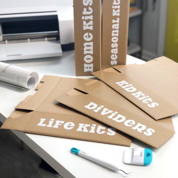 using transfer tape on cardboard hack