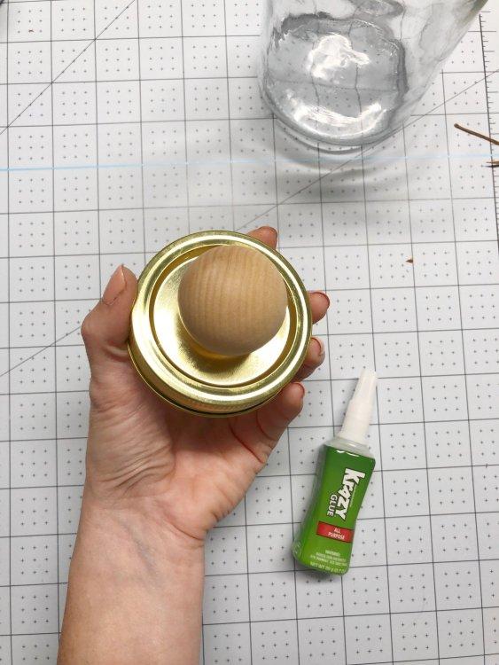 decorate mason jar lid