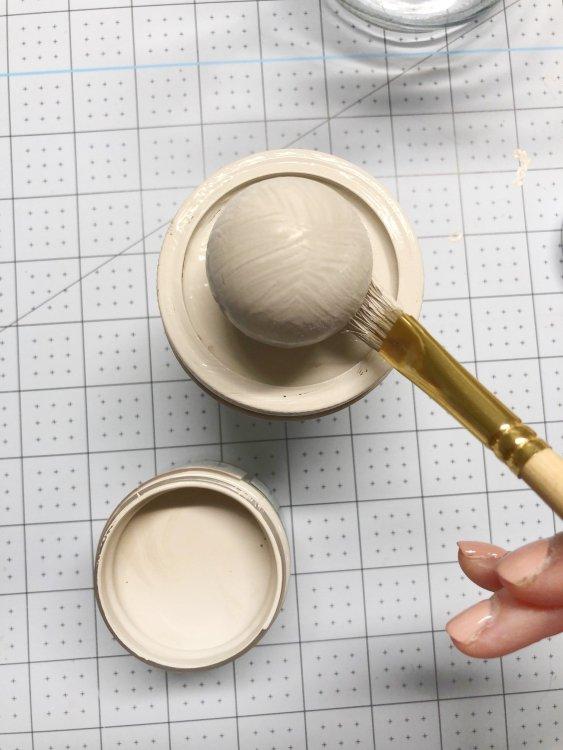 add knob to mason jar lid