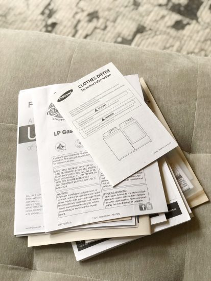 what owners manuals you need to keep