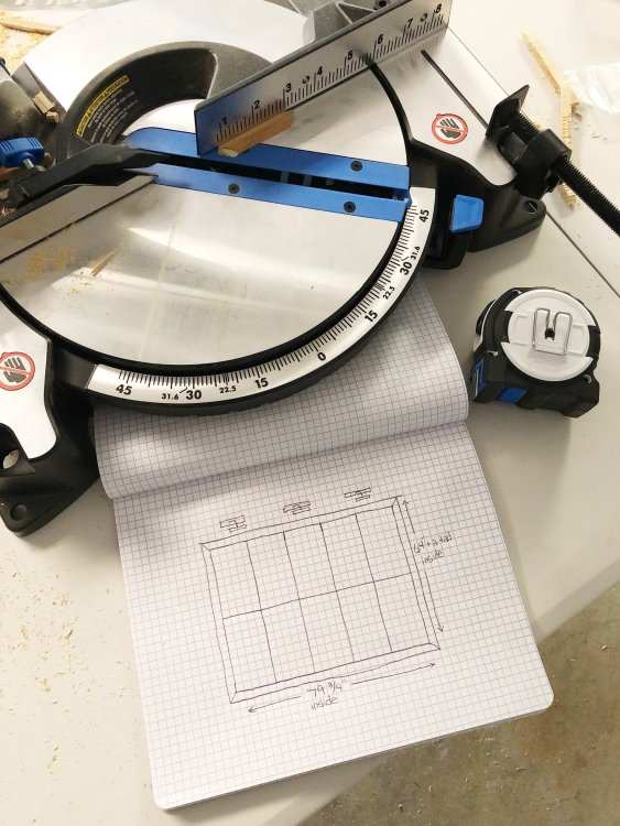Hart miter saw for pegboard wall trim