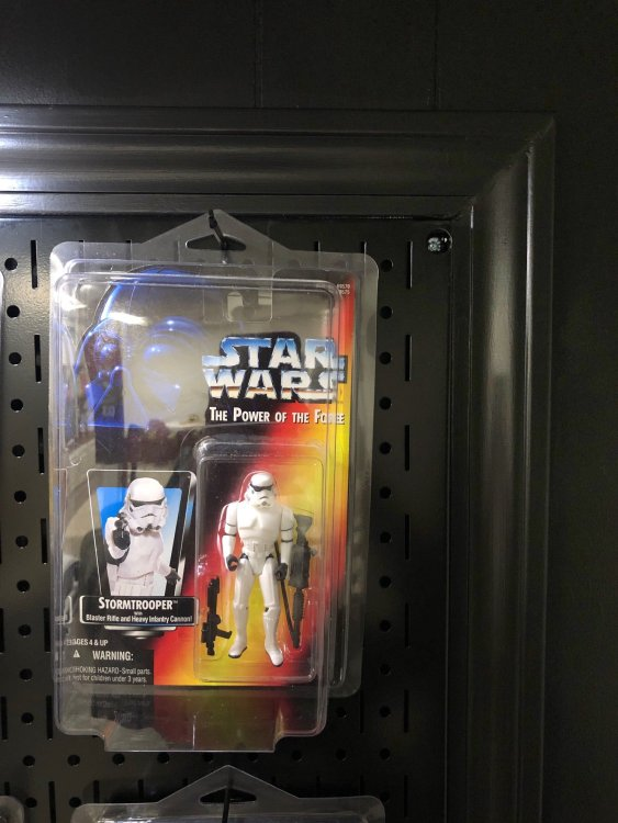 framed pegboard for collectibles