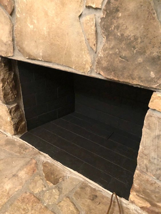paint inside of fireplace
