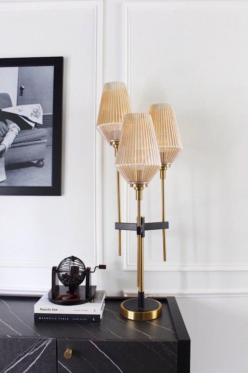 retro lamp in dining room